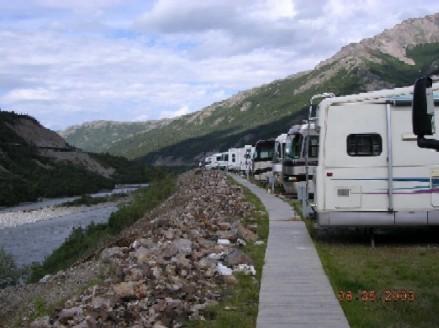 アメリカ レンタルキャンピングカー(モーターホーム)の旅 アラスカRVパーク