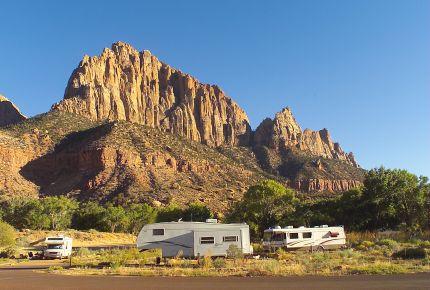 アメリカ レンタルキャンピングカー(モーターホーム)の旅 Watchman campground