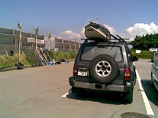 アメリカ レンタルキャンピングカー(モーターホーム)の旅 愛車パジェロでウインドサーフィン!