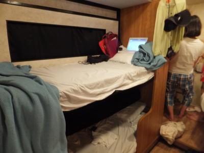 身長180cmの男の子も十分足を伸ばせましたよ!とご感想をいただいた2段ベッド
