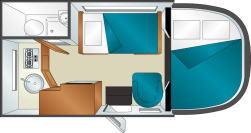 アメリカ レンタルキャンピングカー(モーターホーム)の旅 C-19ベッド