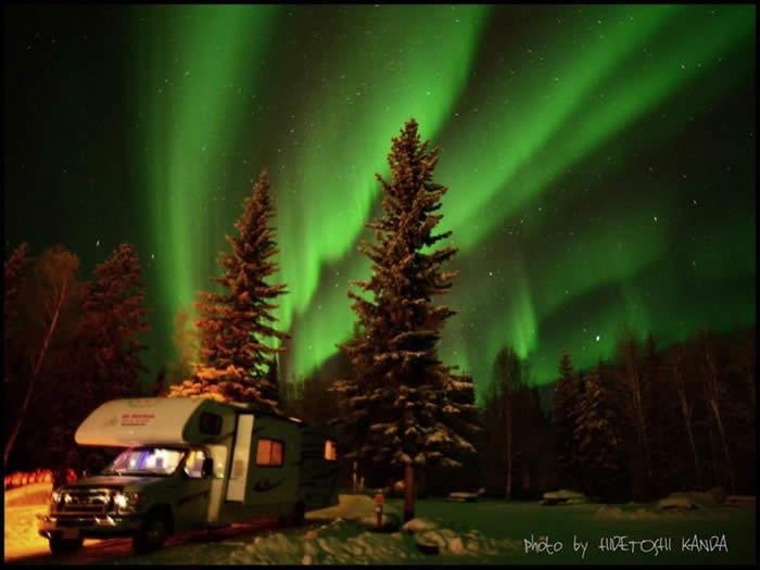 アラスカ オーロラ鑑賞の旅 第五弾